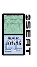 Porte vignette assurance SEAT double étui adhésif voiture Stickers auto rétro