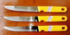 3 x KIWI BRAND Plastic Handle Sharp-Point Knife Stainless Steel Brand New No.511