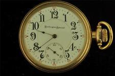VINTAGE 16 SIZE BURLINGTON WATCH CO SIDEWINDER POCKET WATCH GRADE 174 FROM 1908