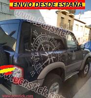 Rosa De Vientos Desgastada Vinilo Adhesivo Sticker Decal Coche 4x4 115x115cm