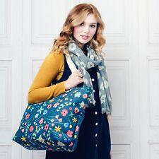 Maxi Large Oversize Canvas Bright Flower Blossom Print Shopper Tote Beach Bag