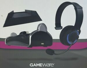 PS4 Gameware Starter Pack (vertical stand/dual controller charging dock/headset)