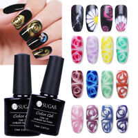 7.5ml Clear Black Soak Off UV Gel Nail Polish Blossom Gel Varnish Led