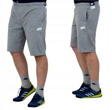 Nike Mens Grey Logo Sports Jersey Fleece Gym Long Fitness Shorts - 700900