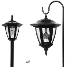 Solar Wholesale 8008 Black Vintage Shepard Hook Solar Lantern Outdoor Light