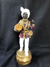 Antique / Vintage BlackaMoor musician . Art resin.