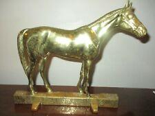 1949 Virginia Va Metalcrafters 18-9 Solid Brass Horse Equine Doorstop, Kinstler