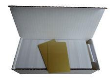 250 Plastikkarten / PVC Karten, gold-metallic, blanko, Kartendrucker, Neu, Card