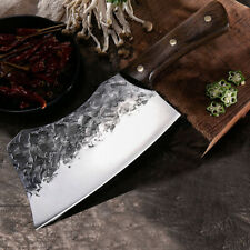 Kitchen Butcher Chef Knife Bone Chopper Carbon Steel Handmade Forged Meat Knives