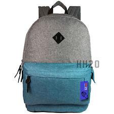 Backpack Rucksack Large Big School Travel Bag Sport Gym Boys Girls Men Ladies Blue Light Grey / Teal