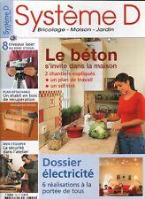 Système D n° 720 Le Béton s invite à la maison établi en bois le plan