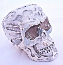 """latex only small celtic skull mold plaster rapid set cement all mould 3"""" x 2.5"""""""