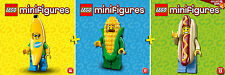LEGO Minifigures #71008, #71013, #71018 - Banana + Hot-Dog + Corn Cob Guy - NEW