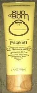 Sun Bum Original SPF 50 Clear Face Lotion 3 oz. Sun Protection Exp 1/21