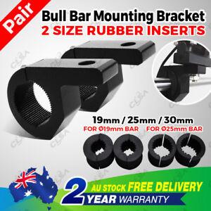 2x 19-25mm Bullbar Pipe Mount Bracket Clamps LED Work Light Bar + 2 set Inserts
