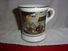 THE LIFE OF A FIREMAN ~ Old Fashioned Fireman ~ MUSTACHE CUP or MUG ~ JAPAN   #2