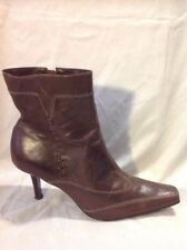 Barratts Brown Ankle Leather Boots Size 8