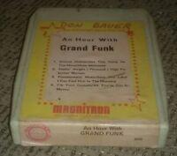 An hour with Grand Funk Railroad 8 Track Tape CLASSIC ROCK MUSIC ALBUM rare!