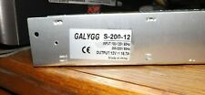 GALYGG AC 110V/220V to 16.7A Universal Regulated Switching Power S-200-12