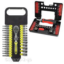 27Pc + 30Pc Socket Bit Set Ratchet Screwdriver Wrench Phillips Hex Torx 3 - 14mm