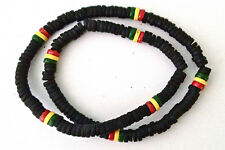 ETHNIC REGGAE RASTA  SURFER COCO WOOD NECKLACE CHOKER   N0500