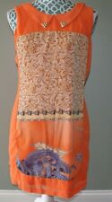 Grifflin Paris lightweight orange sleeveless lined dress womens size L