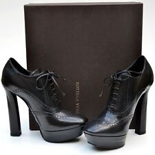 BOTTEGA VENETA New sz 39.5 - 9.5 Designer Womens Lace Up Shoes Heels Black $950