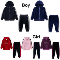 Baby Kids Toddler Boy Girl Hoodies Top+Pants Outfit Tracksuit Hooded Clothes Set