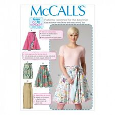 Free UK P&P - McCalls Ladies Easy Sewing Pattern 7129 Wrap Over Tie Skirt...