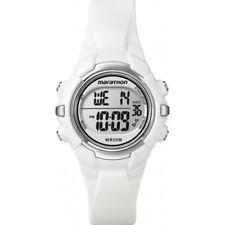 Ladies Timex Marathon Indiglo Digital Alarm White Rubber Sports Watch T5K806