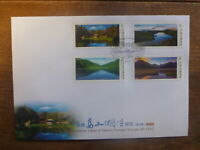TAIWAN 2018 ALPINE LAKES SET 4 STAMPS FDC FIRST DAY COVER