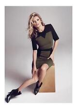 •SALDI• Abito MANGO Tg.S Bicolore Women Dress New Женское платье Kate Moss