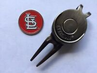MLB St. Louis Cardinals Golf Ball Marker and Magnetic Divot Tool