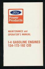Ford Power 134 172 192 CID 4cyl Gasoline Engine Maintence Operators Manual