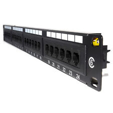 24 port Cat6 Cat 6 RJ45 Patch Panel Rack Mountable 19