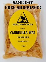 CANDELILLA WAX FLAKES ORGANIC VEGAN BEARDS PASTILLES PRIME 100% PURE 2 OZ