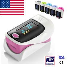 OLED Blood Oxygen Finger Tip Pulse Oximeter Oxymeter SPO2 PR Tester Cute Pink