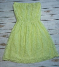 Victoria's Secret S Small Lime Lace Dress Strapless Swim Cover Up Beach Sexy