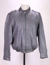 LB131 Marvin Herren Lederjacke Bomber Blouson Jacke Leder grau Gr. S Vintage