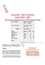 ALEX LINWOOD CLYDE 1948-1951 RARE ORIGINAL HAND SIGNED CUTTING/CARD