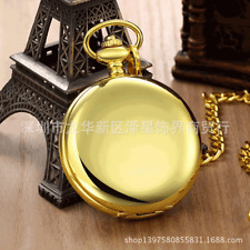 Popular Unisex Vintage Round Watch Quartz Pendant Necklace Pocket Watch Gift