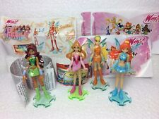 KINDER SURPRISE FERRERO 4x WINX FAIRIES PRINCESS CAKE TOPPERS FIGURES +1 PAPER