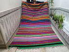 Moroccan Handmade Vintage Azilal Berber Wool Rug Beni Ourain Tribal Rug