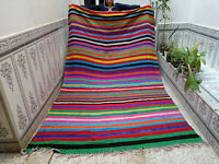 Moroccan Handmade Vintage Azilal Berber Wool Rug Beni Ourain Tribal Rug  6×10 ft