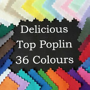 Poly Cotton NEW POPLIN Dressmaking Quilting Fabric Material Patchwork PLAIN SEW