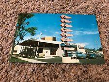 Vintage Garth's Drive-In Restaurant 1950s cars Colorado Springs CO Postcard