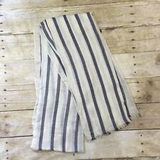 NWT J. Crew Lightweight Striped Scarf #C8640 navy and white cute comfy soft