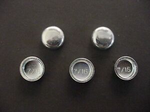 "Fit AMC Auto 5pk 7/16"" Freeze Expansion Plugs Zinc Plated Steel Engine Block NOS"