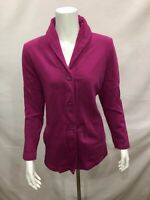 Denim & Co. Long Sleeves Button Front Shawl Collar Knit Jacket X-Small Size