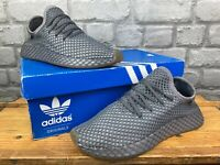 ADIDAS ORIGINALS MENS DEERUPT DARK GREY RUNNING TRAINERS RRP £90  T